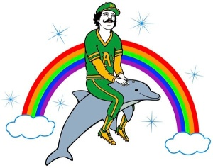 Rollie Fingers riding a dolphin and other random thoughts.