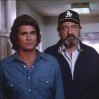 Victor French and the A's cap in the pantheon of popular culture.