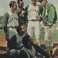 Joe DiMaggio wears the Kelly Green and Gold.