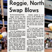 40 years ago this month...Reggie gets his ass kicked.