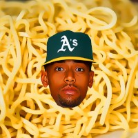 Khris Davis, noodles and Los Angeles.